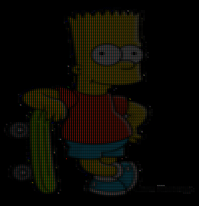 Bart Simpson rendered in RGB